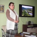 Paní Jana přednáší